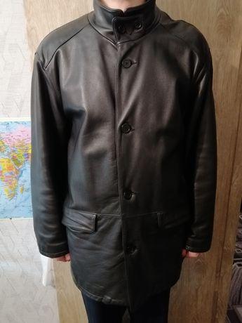 Мужская кожаная куртка 4XL.