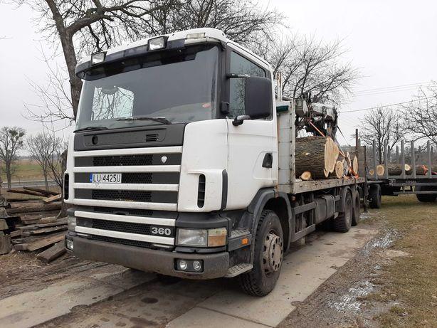 Scania R 124 6x2 bez dźwigu