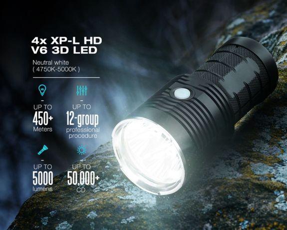 Sofirn Q8 очень МОЩНЫЙ дальнобойный ФОНАРЬ для охоты фонарик прожектор