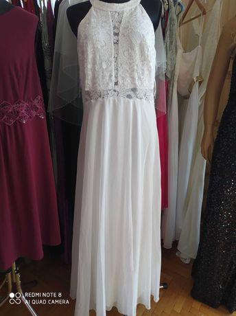 Sukienka biało-perłowa rozmiar 46-48Na ślub lub na wesele