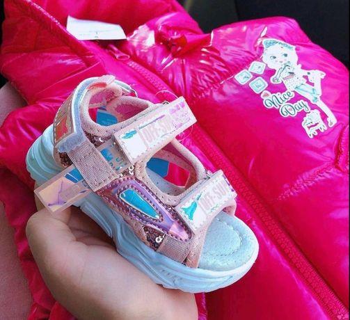 Сандалики на дівчинку, босоножки для девочки 21 размера
