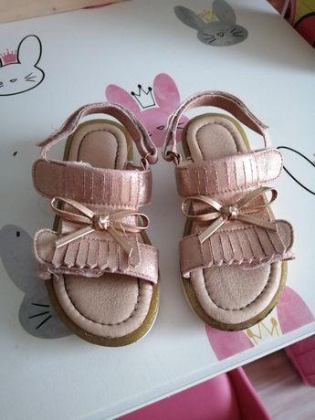 Sandaly sandałki dziewczęce nelli blu ccc 28