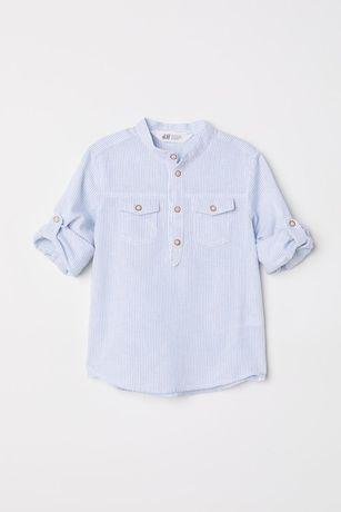 Рубашка h&m 6-7 л