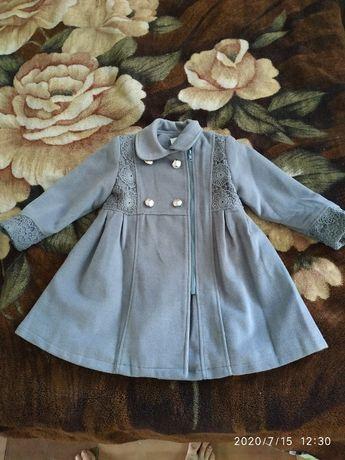 Пальто детское осенне-весеннее, размер 110 см