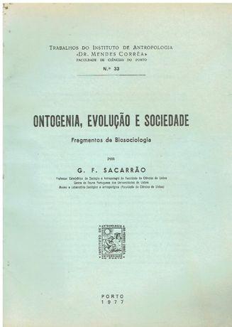 11072 Ontogenia, evolução e sociedade : fragmentos de biosociologia
