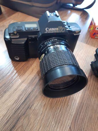 Aparat analogowy Canon T70 - kompletny zestaw - sprawny