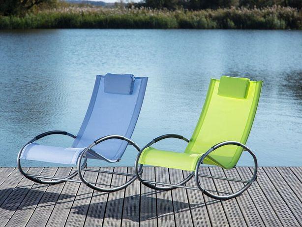 Cadeira de jardim de baloiço azul CAMPO - Beliani