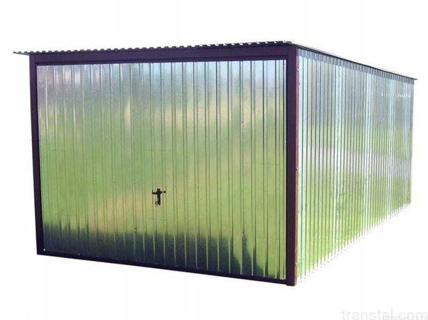 Garaż blaszak 3x5 ocynk brama uchylna