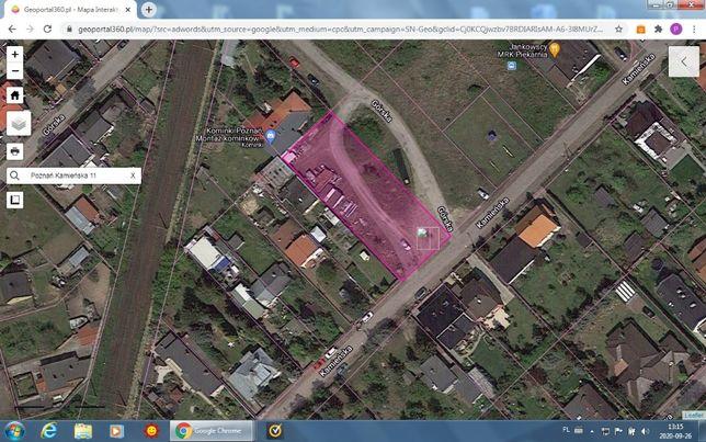 Działka Poznań Zieliniec 1248 m² ul. Kamieńska 11
