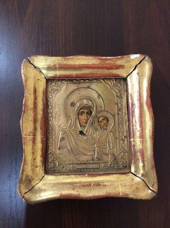 Старая икона Казанской Божьей матери