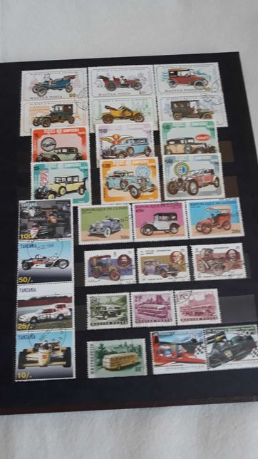 Klaser ze znaczkami, tematyka motoryzacja