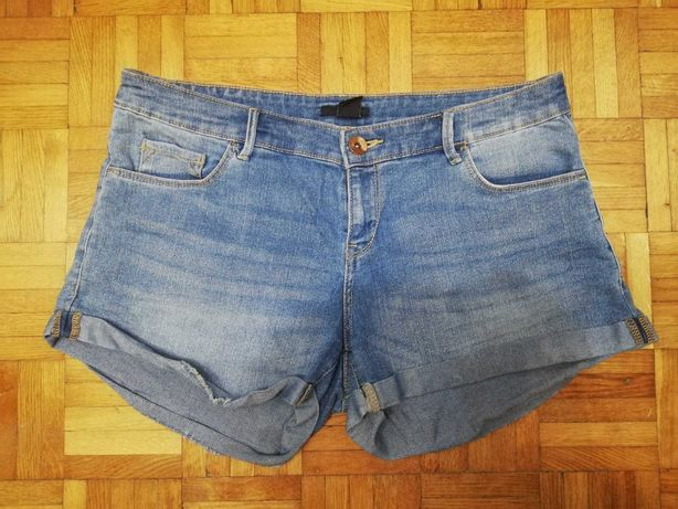Krótkie spodnie na lato jeansowe H&M 38