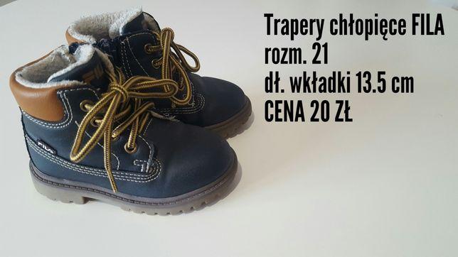 Buty trapery chłopięce FILA rozm. 21