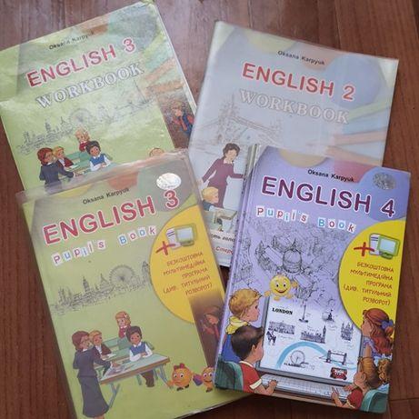 Продам книги по английскому языку (с тетрадями заполненными)