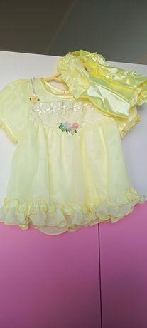 Komplet sukienka dla niemowlaka r. 56/62