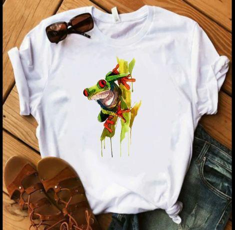 Koszulka t-shirt plaż żaba S-XXL