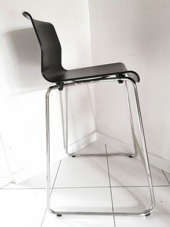 Ikea GLENN Stołek barowy, czarny, chrom