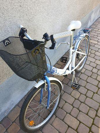 """Rower 24"""" młodzieżowy plus koszyk gratis"""