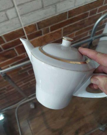 Чайник Дулево 68г СССР сервиз старинный тонкий фарфор посуда