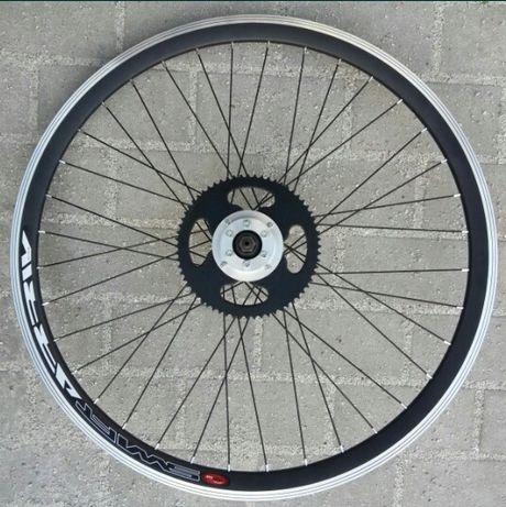 Rower z silnikiem - gotowe tylne koło