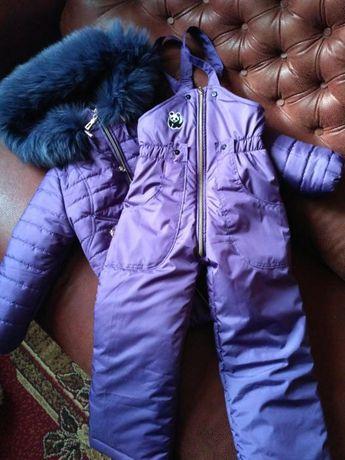 зимний костюмчик на мальчика или девочки на 4-5 лет
