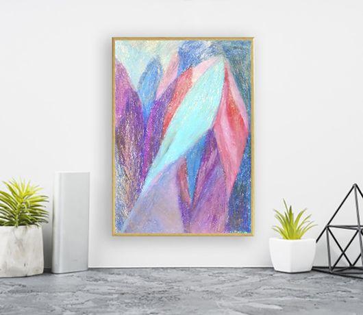 pastelowy obraz 21x30, rysunek pastelowy, rysunek abstrakcja a4, szkic