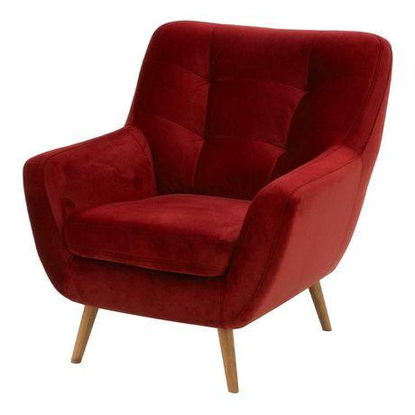 Fotel Scandi - czerwony, jak NOWY !