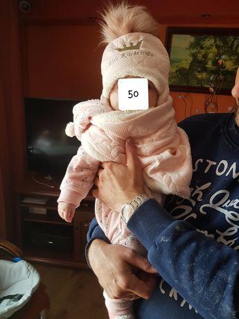 Kombinezon 68 jesień dziewczynka różowy