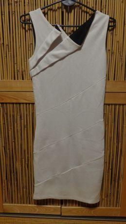 Sukienka Mohito XS biała z czarnymi wstawkami