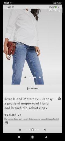 Ciążowe jeansy River Island
