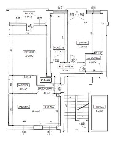 Mieszkanie, 84,55 m², Wichrowe Wzgórze, Nakło nad Notecią