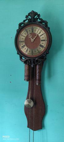 Zegar drewniany wiszący ścienny