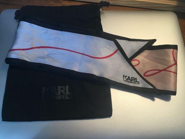 Karl Lagerfeld mitzah apaszka szal jedwab