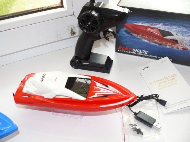 Катер JJRC-S5 радиоуправляемый, красный, длина 23см, скорость 15км/ч