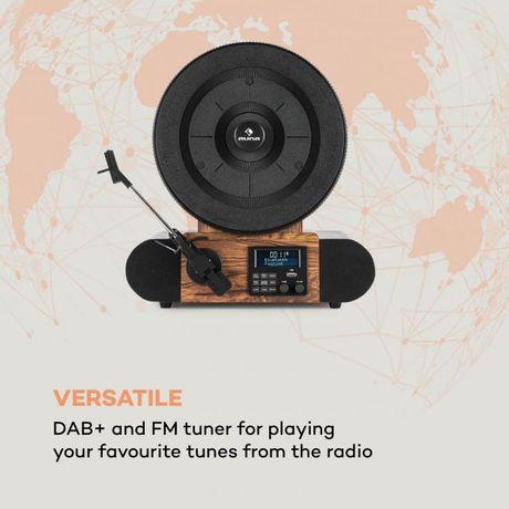 Gramofon Auna Verticalo SE DAB+ USB, Bluetooth, FM