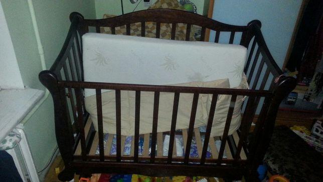 Дитяче ліжечко + матрасик