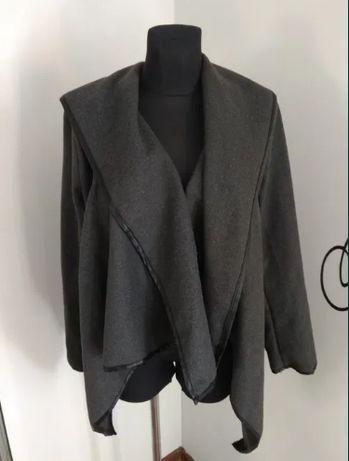 Narzutka kurtka damska wiosenna przejściowa filcowa oversize L 44 46