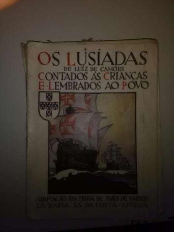 Livro Antigo Os Lusiadas Contado as Crianças e Lembrados ao Povo