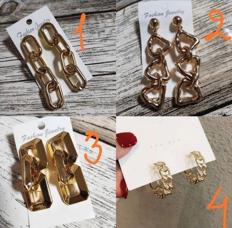Серьги сережки серёжки цепи цепь золото подвеска висюльки длинные