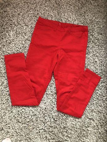 Spodnie rurki czerwone H&M