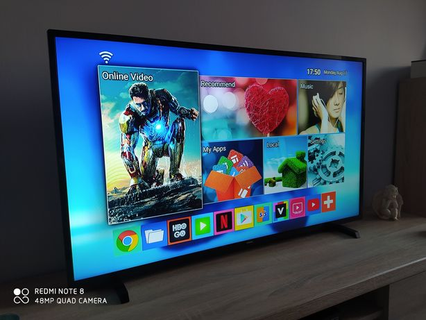 Telewizor LED 43 cale Philips stan jak Nowy+Android Tv z padem+ gratis