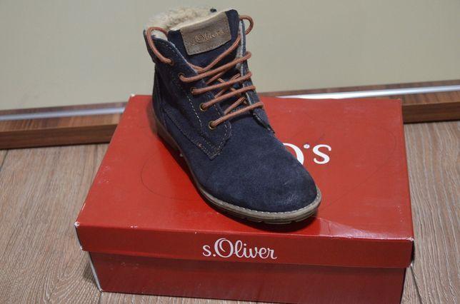 S.OLIVER_Chłopięce buty 100% skóra ocieplane