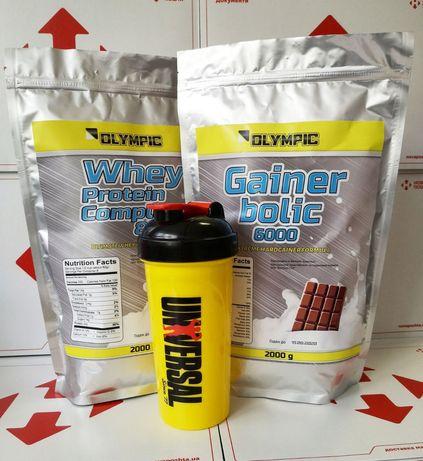 Протеин 2 кг+Гейнер 2 кг+шейкер!