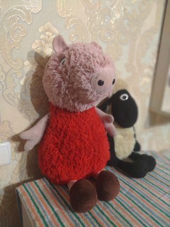 Мягкие игрушки Свинка Пеппа и баран Шон