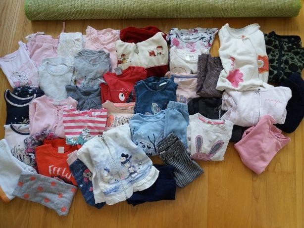 Paka, spodenki, bluzeczki, sukienki, piżamki, body 80 [1/1,5roku]40szt
