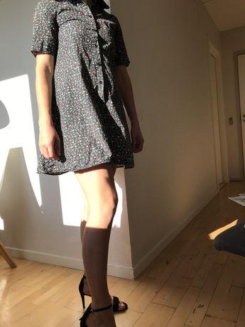Zara платье мини, цветочный принт