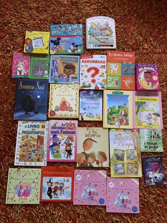 Livros infantis didáticos e histórias