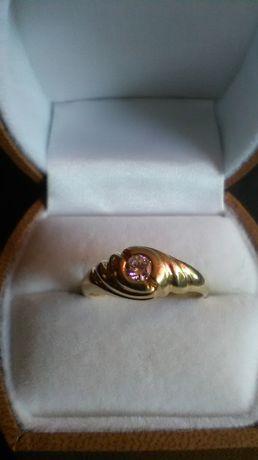 Złoto 585 Brylant 0,18 c Certyfikat i Srebro