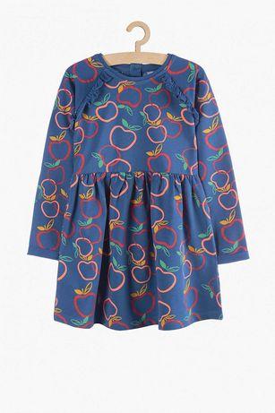 Sukienka sukieneczka jabłuszko nowa 128