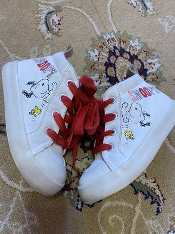 Хайтопи/кеди кросовки Zara Baby 23 розмір 15 см